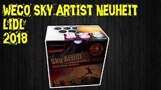 Lidl Feuerwerk Batterie Sky Artist Neuheit 2018