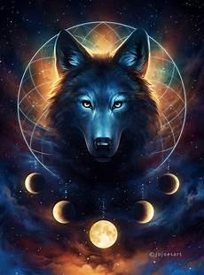 Wallpaper Galaxy Aesthetic Dreamcatcher Wolf