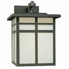 thomas lighting mission 1 light black outdoor wall lantern sl90077 the home depot