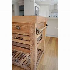 Kitchen Drawers Buy by Recycled Timber Portable Kitchen Island W 6 Drawer Buy
