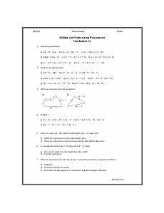 polynomials worksheet 3 adding and subtracting polynomials math 9 polynomials name adding and