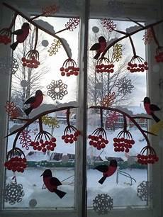 Winterfenster Kindergarten Raumgestaltung Basteln