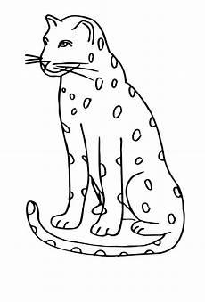 malvorlagen zum drucken ausmalbild leopard kostenlos 2