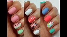 3 easy nail art designs for short nails freehand 2