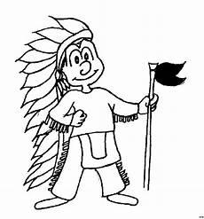 kleiner indianer ausmalbild malvorlage comics