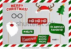 merry christmas photo booth props fun stock vector royalty free 769858111