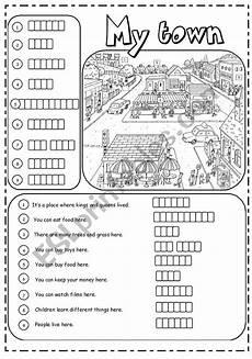 places in town writing worksheets 16040 places in town 2 3 worksheet ingl 233 s para ni 241 os ingles ni 241 os docencia
