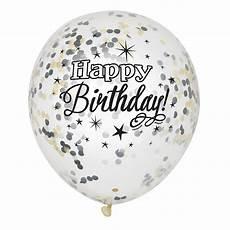 ballons mit konfetti bakeria happy birthday luftballons transparent mit