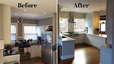 Kitchen Design Ideas Before And After by Small L Shaped Kitchen Remodel Before And After