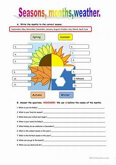worksheets on seasons for grade 2 14834 seasons and weather worksheet free esl printable worksheets made by teachers