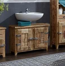 bad unterschrank holz sit bad unterschrank 187 frigo 171 mangoholz im antik look mit