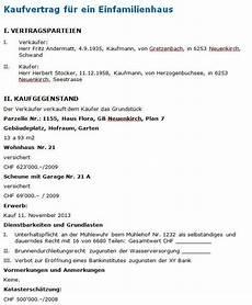 Muster Kaufvertrag F 252 R Ein Haus Downloaden