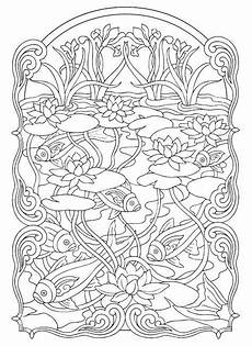 free coloring page 171 coloring fish pond