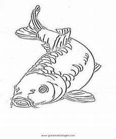 karpfen 2 gratis malvorlage in fische tiere ausmalen