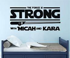 star wars lightsaber force is strong quote vinyl decor wall decal customvinyldecor com