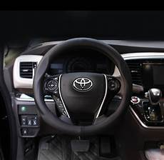 volante toyota yaris 38cm car leather steering wheel cover for toyota corolla