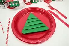 really easy tree napkin fold delights