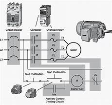 electric motor starter wiring basic plc program for control of a three phase ac motor