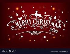 merry day 2019 happy new year and vector image