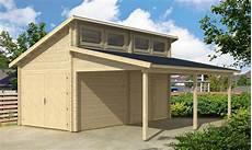 garage aus holz holzgarage v 228 stervik mit carport 70 a z gartenhaus gmbh