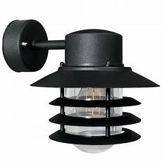 nordlux vejers down outdoor wall light black