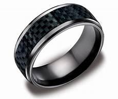 15 best collection of black titanium mens wedding rings