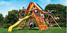 rainbow swing sets rainbow play castle playset reviews on top