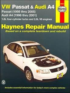 car engine repair manual 2001 volkswagen passat lane departure warning vw passat 1998 2005 audi a4 1996 2001 repair manual haynes