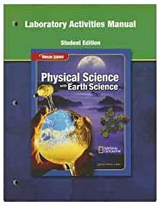 earth science glencoe worksheets 13304 physical science with earth science laboratory activities manual glencoe science mcgraw hill