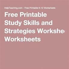 free printable study skills and strategies worksheets teaching study skills study skills