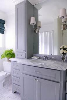 Bathroom Ideas Gray Vanity by Lovely Bathroom Features A Gray Vanity Paired With A Grey