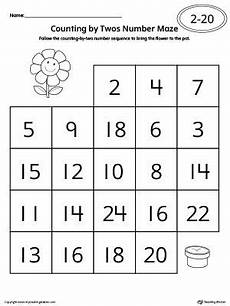 skip counting by twos worksheets 12000 kindergarten numbers printable worksheets maze worksheet counting in 2s pattern worksheet