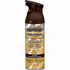 rust oleum universal 12 oz all surface gloss espresso brown spray paint and primer in one case