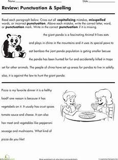 proofreading practice punctuation and spelling punctuation worksheets spelling worksheets