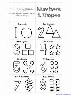 numbers 1 10 and shapes accordion coloring book printable free numbers preschool