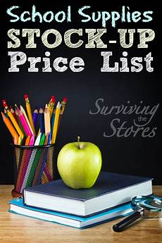 What Are The Best Stock Up Prices For Back To School Items