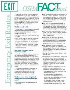 osha emergency exit routes factsheet