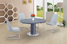 Esstisch Hochglanz Grau - grey glass high gloss dining table and 4 white