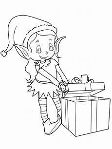 ausmalbild weihnachten mit weihnachtsgeschenk