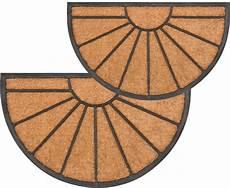 fussmatte kokos fu 223 matte kokos in outdoor gummi halbrund struktur sonne
