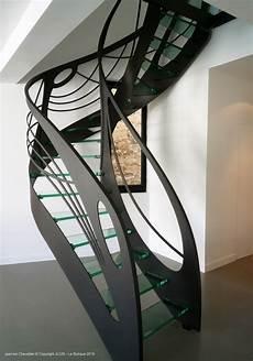 Escalier Design En Verre L Arabesque De Lumi 232 Re La Stylique