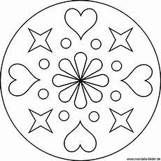 Www Malvorlagen Sterne Lernen Einfache Mandala Vorlage Mit Herzen Und Sternen