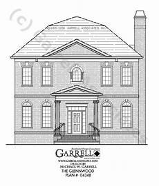 colonial williamsburg house plans garrell associates inc glennwood house plan 04348