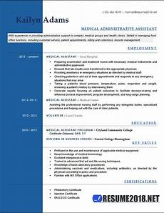 medical assistant resume exles 2018 six templates in docx format