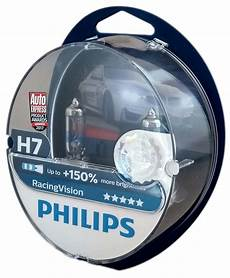 h7 philips racing vision 150 car headlight bulb set with