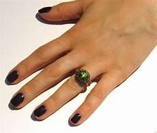 pomellato tabou pomellato tabou peridot burnished silver gold ring for