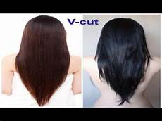 v cut beautiful hairstyle for youtube