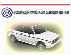 small engine repair manuals free download 1993 volkswagen corrado interior lighting volkswagen vw golf mk1 cabriolet 1985 1993 repair manual download