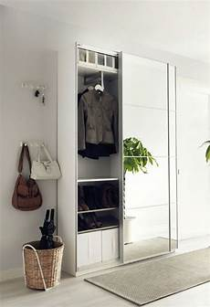 Ikea Hallway Storage Mirror Sliding Panel Small Space