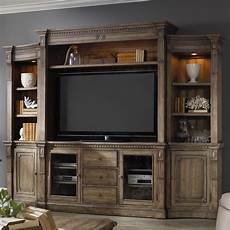 hooker furniture sorella 4 piece wall unit with touch lighting and interchangeable wood and